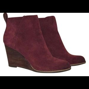Lucky Brand Oiled Suede Yezzah Booties - 8